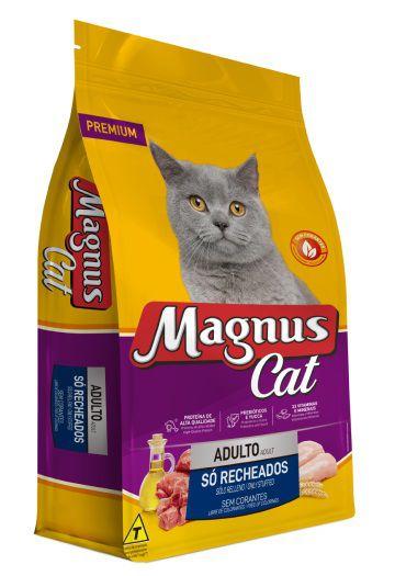 Ração Magnus Cat Adultos Só Recheados Sem Corantes 15kg
