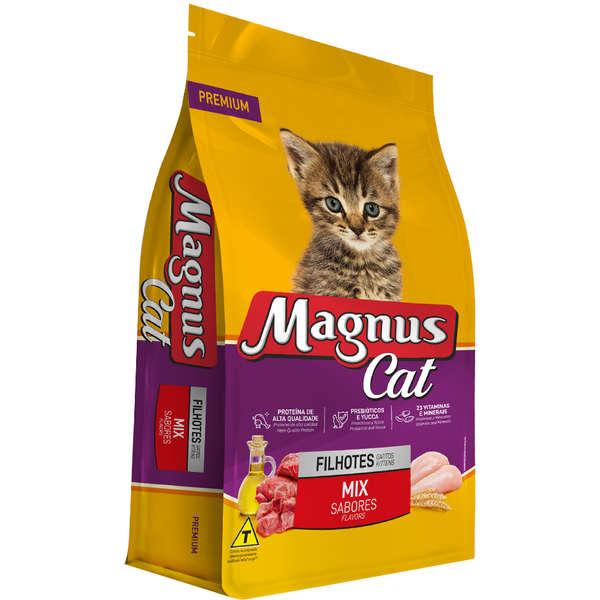 Ração Magnus Cat Filhotes Mix De Sabores 15kg