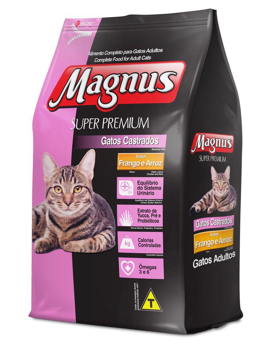 Ração Magnus Cat Super Premium Gatos Castrados Sabor Frango E Arroz 10,1kg