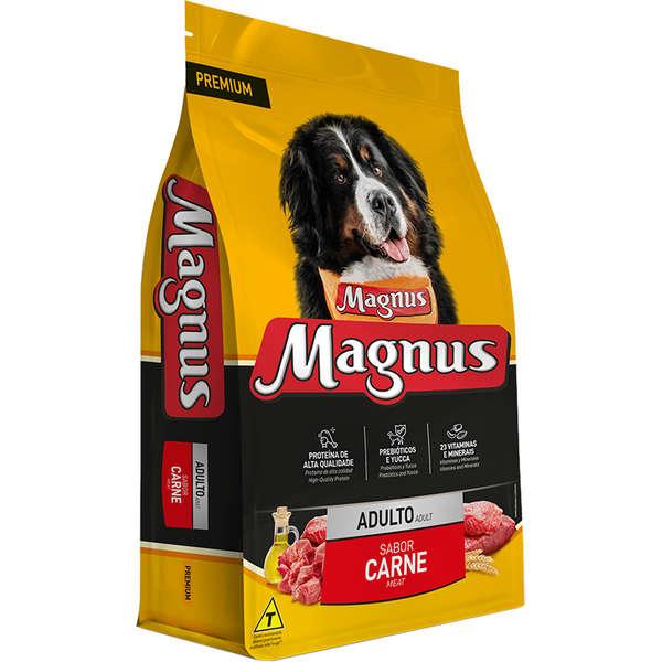 Ração Magnus Premium Para Cães Adultos Sabor Carne