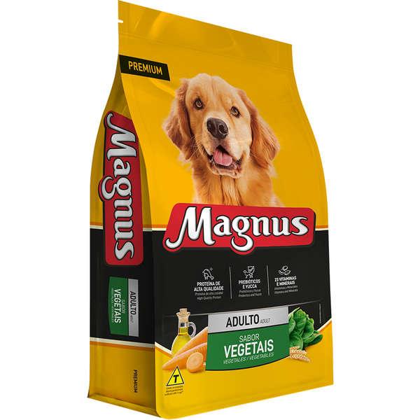 Ração Magnus Premium Para Cães Adultos Sabor Vegetais 25Kg