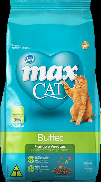 Ração Max Cat Buffet Gatos Adultos Sabor Frango e Vegetais 20 Kg