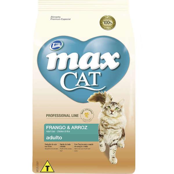 Ração Max Cat Line Frango e Arroz para Gatos Adultos 10Kg