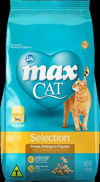 Ração Max Cat Mix Selection Adultos Sabor Peixe, Frango E Fígado 20 Kg
