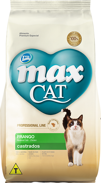 RAÇÃO MAX CAT PROFESSIONAL LINE CASTRADOS SABOR FRANGO 10,1 KG