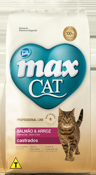 Ração Max Cat Professional Line Castrados Sabor Salmão E Arroz 10,1 Kg