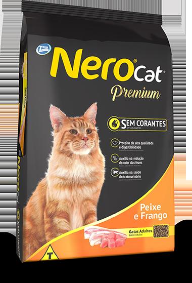 Ração Nero Cat Premium Sabor Peixe e Frango 20 Kg