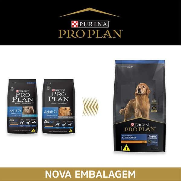 Ração Nestlé Purina Pro Plan Adult 7+ Anos Active Mind para Todos os Portes 1 Kg