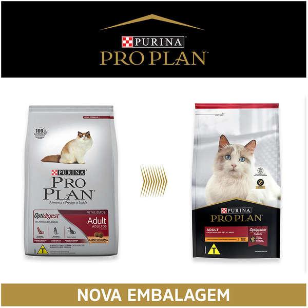 Ração Nestlé Purina Pro Plan para Gatos Adultos Sabor Frango 7,5 Kg