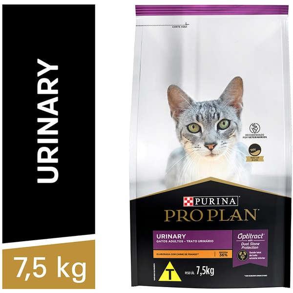 Ração Nestlé Purina Pro Plan para Gatos Adultos Urinary 7,5 Kg
