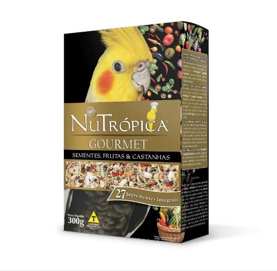 Ração Nutrópica para Calopsita Gourmet Sementes, Frutas e Castanhas 300g