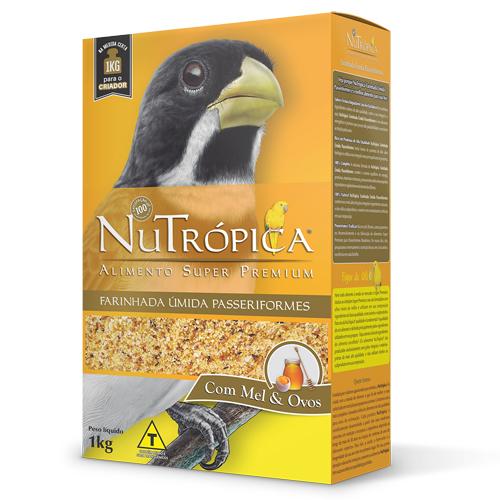Ração Nutrópica Farinhada Úmida Passeriformes Coleiro 1Kg