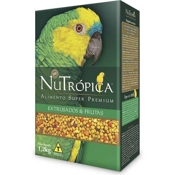 Ração Nutrópica para Papagaio Extrusado e Frutas 1,2 Kg