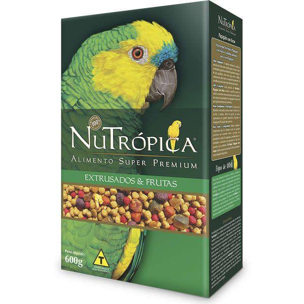 Ração Nutrópica para Papagaio Extrusado e Frutas 600g