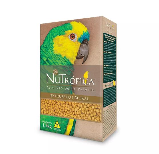 Ração Nutrópica para Papagaio Extrusado Natural 1,2 Kg