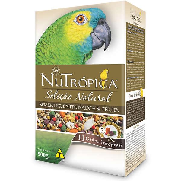 Ração Nutrópica para Papagaio Seleção Natural Sementes, Extrusados e Fruta 900g