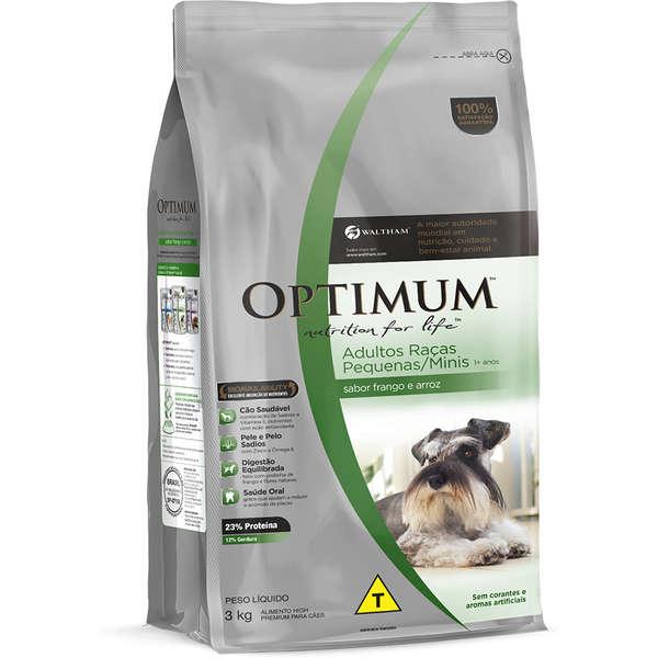 Ração Optimum Cães Adultos Raças Pequenas 3kg
