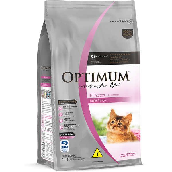 Ração Optimum Frango para Gatos Filhotes 2 a 12 meses 3Kg