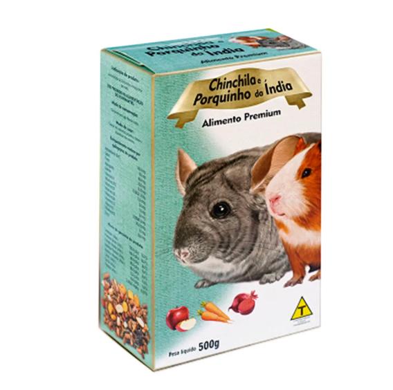 Ração para Chinchila e Porquinho da Índia Premium 500g - Nutripássaros