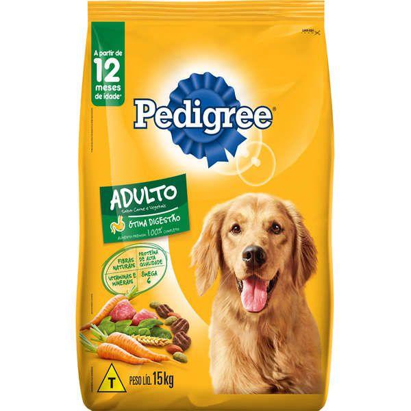 Ração Pedigree para Cães Adultos Sabor Carne e Vegetais 15 Kg