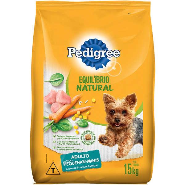 Ração Pedigree Equilíbrio Natural para Cães Adultos de Raças Pequenas 15 Kg
