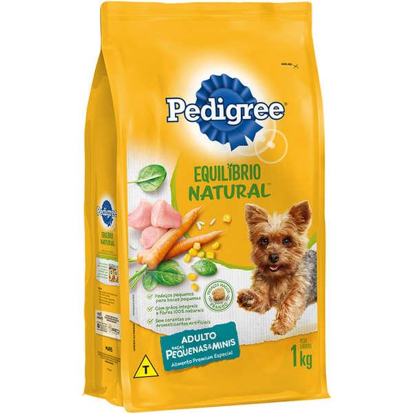 Ração Pedigree Equilíbrio Natural para Cães Adultos de Raças Pequenas