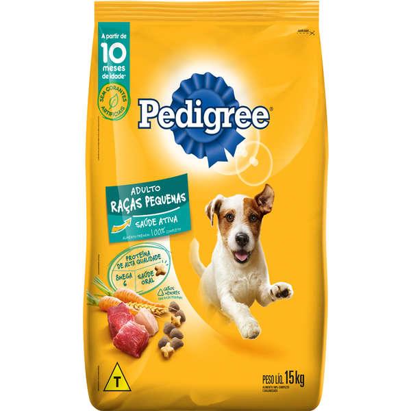 Ração Pedigree para Cães Adultos de Raças Pequenas 15 Kg