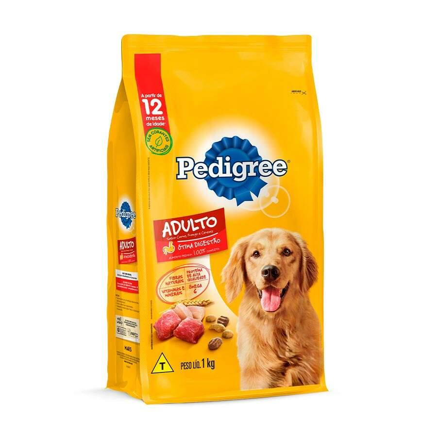 Ração Pedigree para Cães Adultos Sabor Carne, Frango e Cereais 1 Kg
