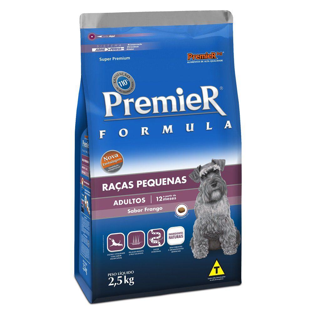 Ração Premier Fórmula para Cães Adultos de Raças Pequenas Sabor Frango 2,5 Kg