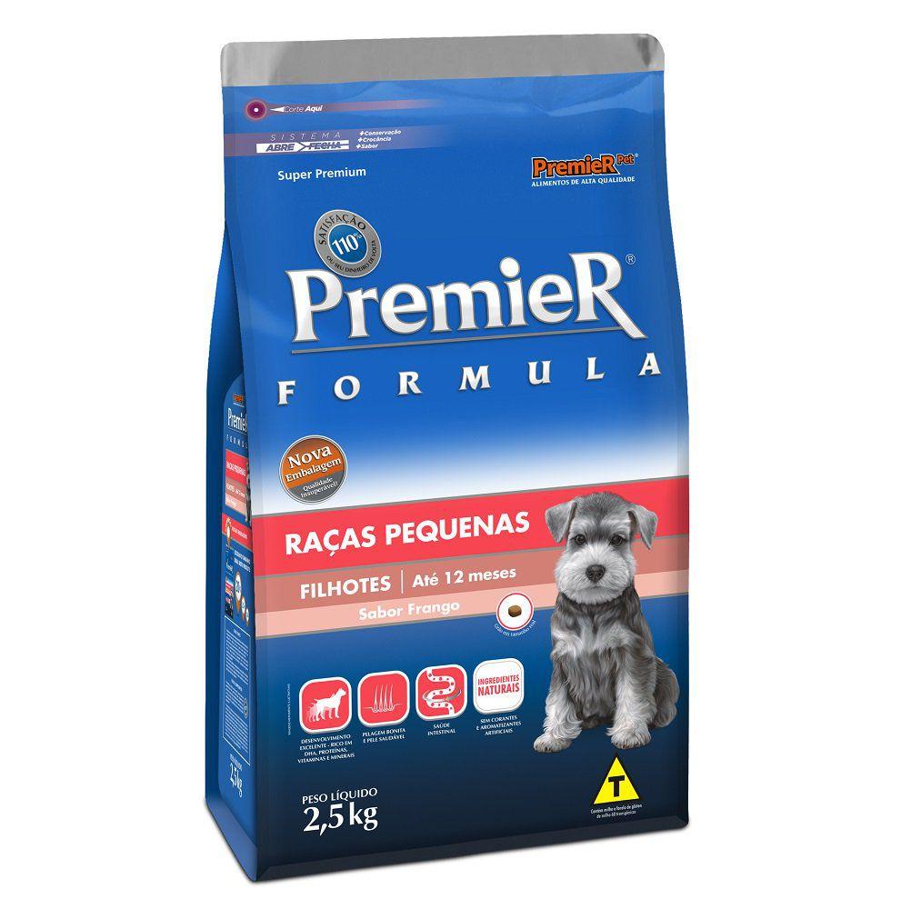 Ração Premier Fórmula para Cães Filhotes de Raças Pequenas Sabor Frango 2,5 Kg