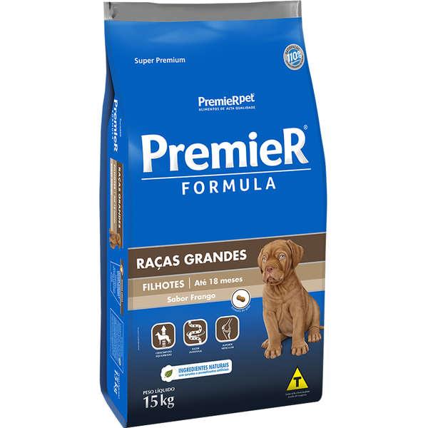 Ração Premier Fórmula para Cães Filhotes de Raças Grandes Sabor Frango 15 Kg