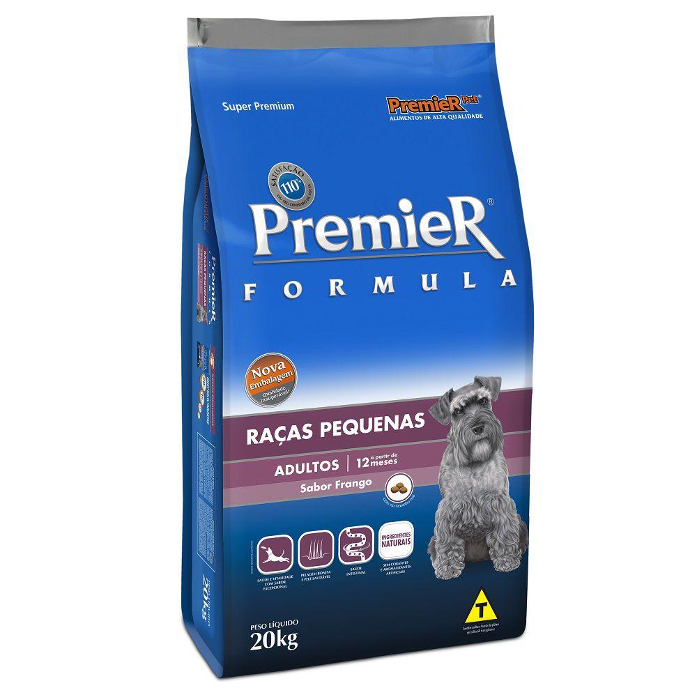 Ração Premier Fórmula para Cães Adultos de Raças Pequenas Sabor Frango 20 Kg