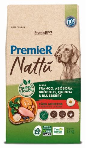 Ração Premier Nattu para Cães Adultos Sabor Abóbora 12 Kg