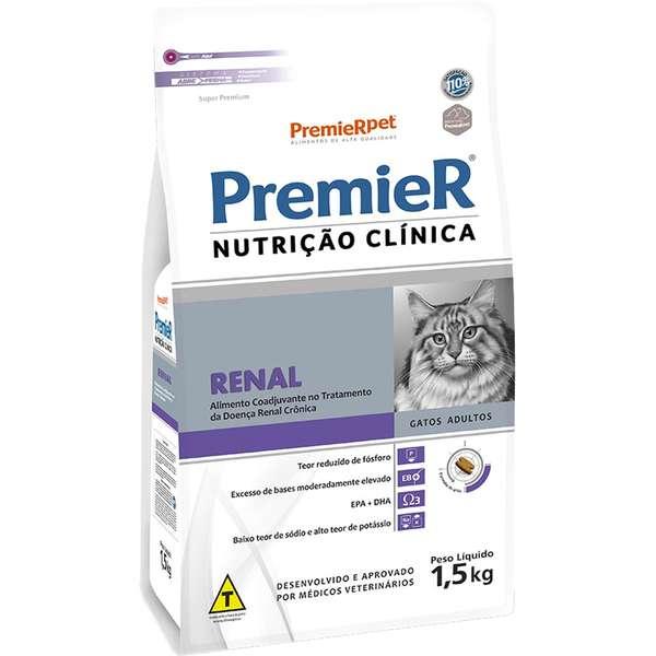Ração Premier Nutrição Clínica Renal para Gatos Adultos 1,5 Kg