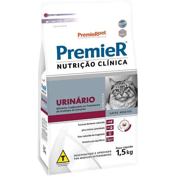 Ração Premier Nutrição Clínica Urinário para Gatos Adultos 1,5 Kg