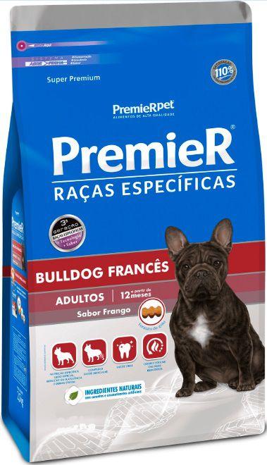 Ração Premier Raças Específicas para Bulldog Francês Adultos Sabor Frango 7,5 Kg