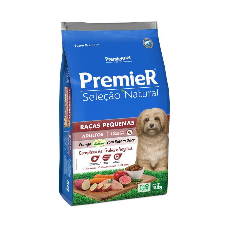 Ração Premier Seleção Natural para Cães Adultos de Raças Pequenas Sabor Frango Korin Com Batata Doce 10,1 Kg