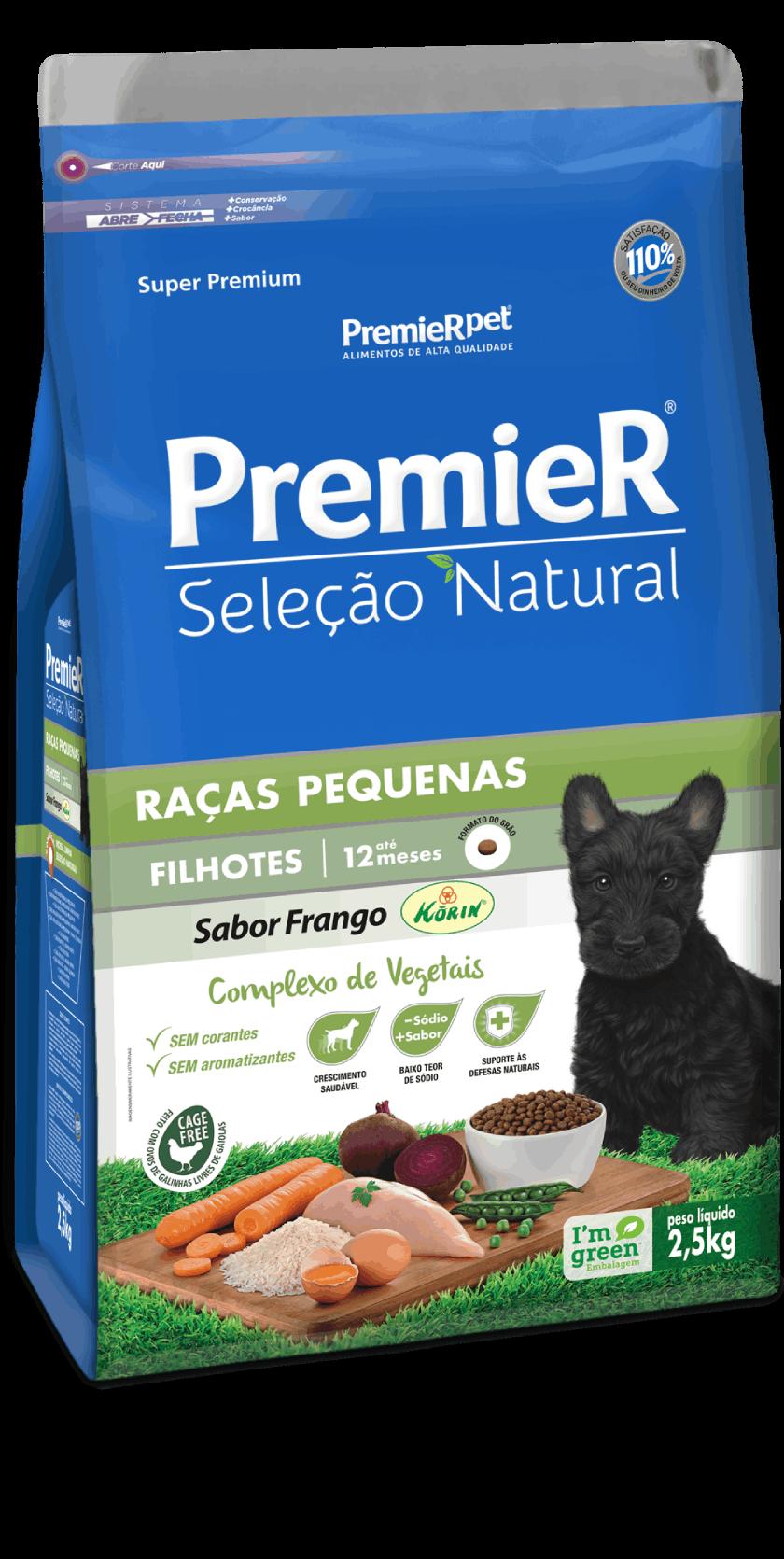 Ração Premier Seleção Natural Para Cães Filhotes de Raças Pequenas 1 Kg