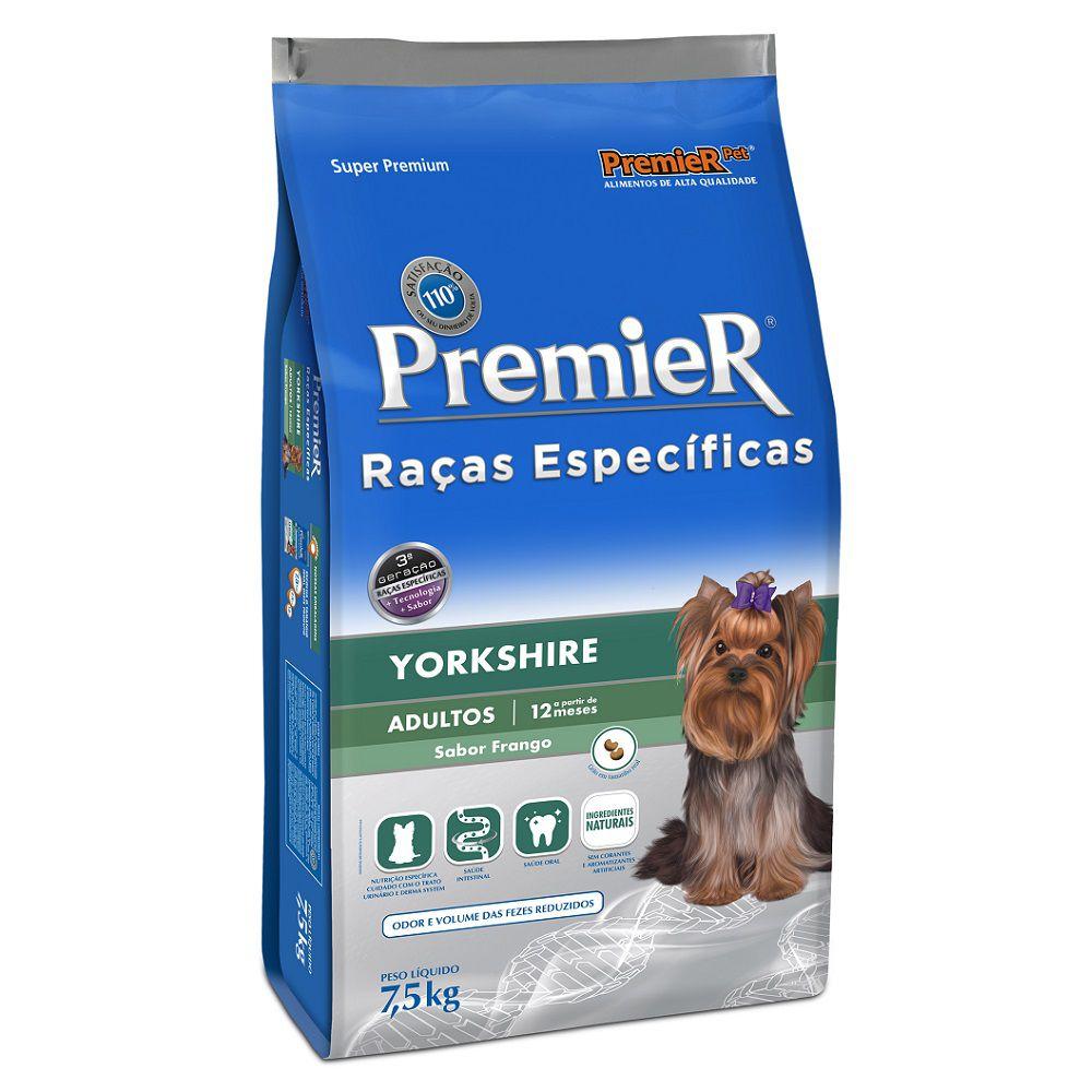 Ração Premier Raças Específicas para Yorkshire Adultos Sabor Frango 7,5 Kg