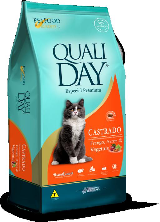 RAÇÃO QUALIDAY CAT CASTRADOS SABOR FRANGO 10KG