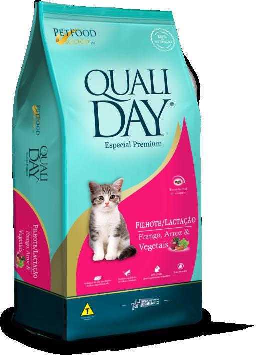 Ração Qualiday para Gatos Filhotes ou Gatos em Lactação 1 Kg