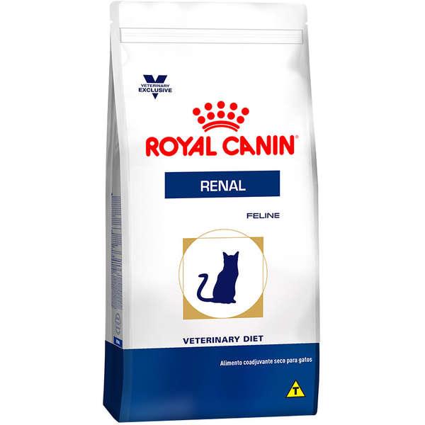 Ração Royal Canin Feline Veterinary Diet Renal para Gatos com Doenças Renais 500g