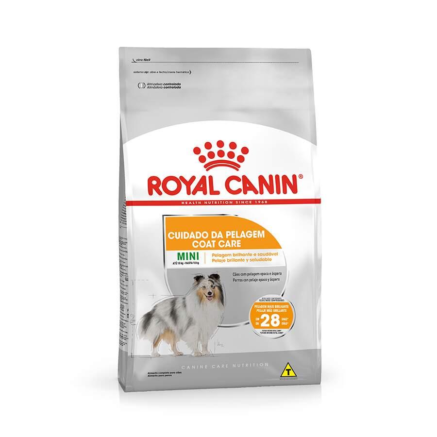Ração Royal Canin Mini Coat Care Cuidado da Pelagem para Cães Adultos de Porte Pequeno 2,5kg