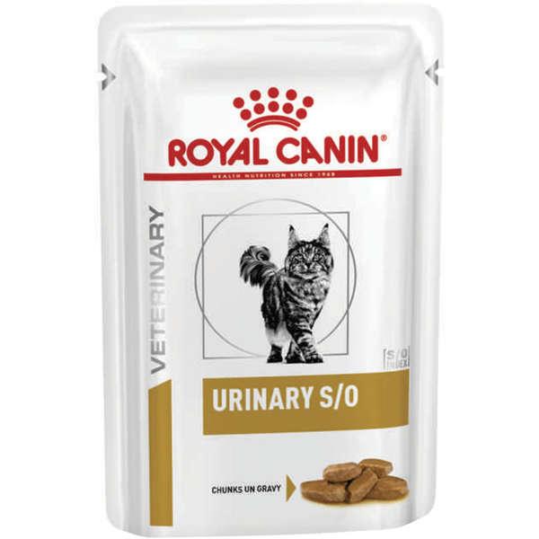 Ração Úmida Sachê Royal Canin Feline Veterinary Diet Urinary S/O para Gatos 85g