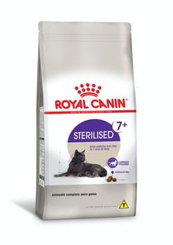 Ração Royal Canin Sterilised 7+ para Gatos Adultos Castrados acima de 7 anos
