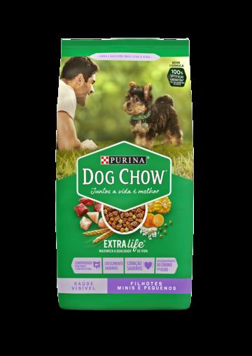 Ração Seca Dog Chow Extra Life para Cães Filhotes Raças Minis e Pequenas 1Kg Colorida