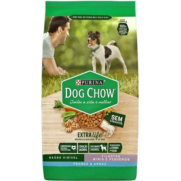 Ração Seca Dog Chow Extra Life para Cães Filhotes Raças Minis e Pequenas Frango e Arroz  1Kg