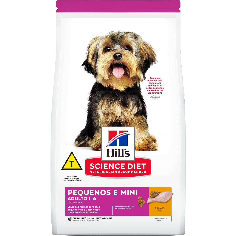 Ração Seca Hill's Science Diet para Cães Adultos Raças Pequenas e Miniatura 2,4Kg