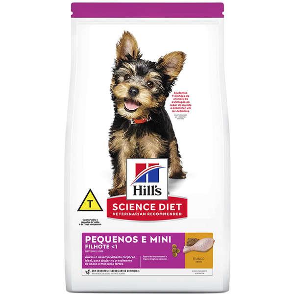 Ração Seca Hill's Science Diet para Cães Filhotes Raças Pequenas e Miniatura 2,4Kg