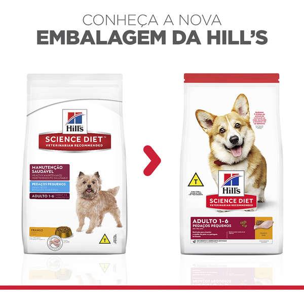 Ração Seca Hill's Science Diet Pedaços Pequenos para Cães Adultos 2,4Kg